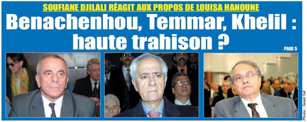 Soufiane Djilali ré&git aux propos de Louisa Hanoune trahison-1024x409
