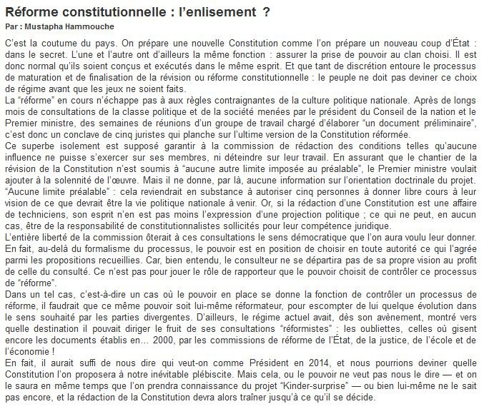 Révision constitutionnelle dans le secret constitution